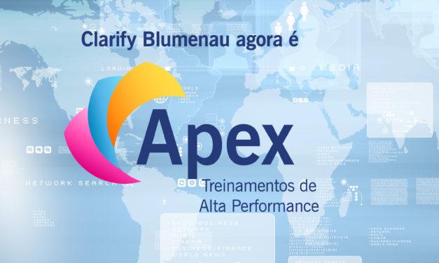 Clarify Blumenau agora é Apex!