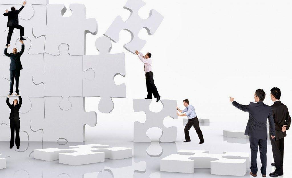 equipe unida para gerenciar processos