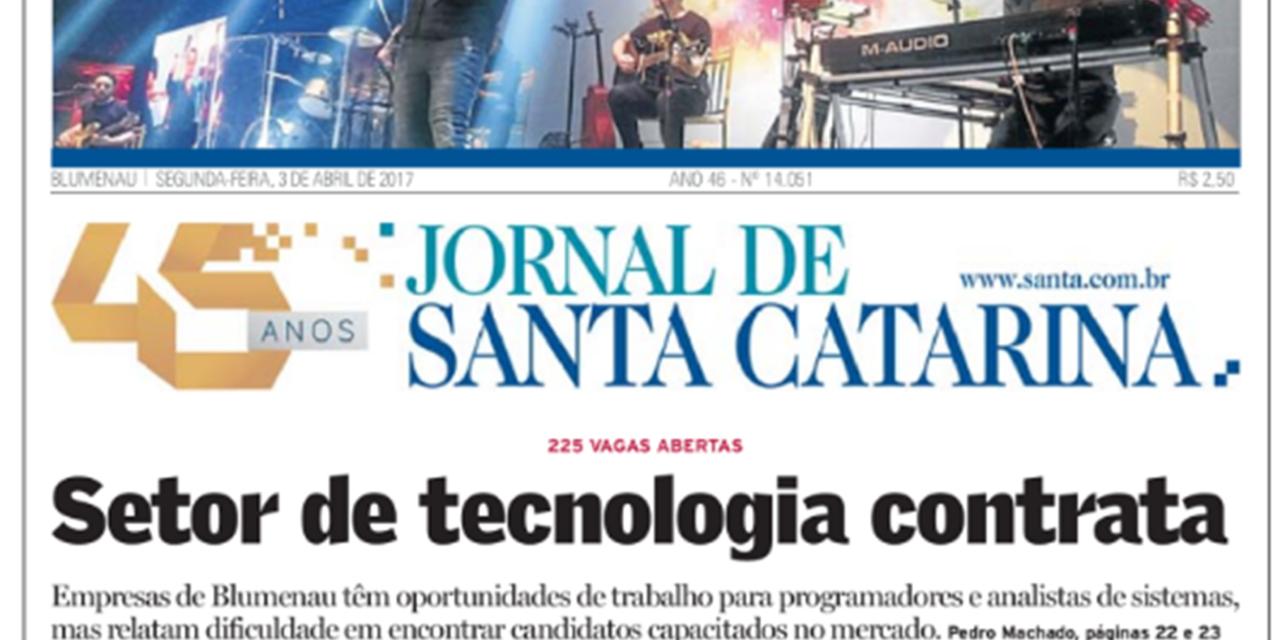 Vagas na área de TI ganham destaque no principal jornal da cidade
