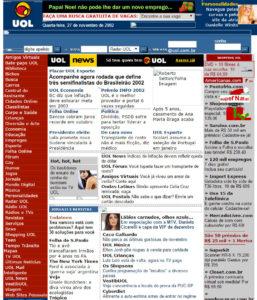 site do uol anos 2000